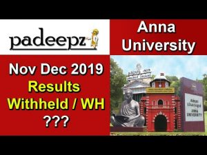 Anna University Results Be 2019