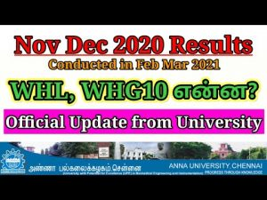 Anna University Results Be 2020