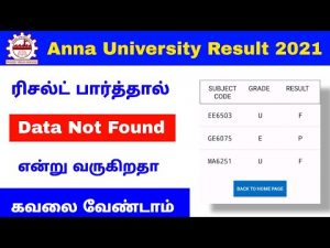 Anna University Results For 2021